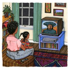 Sally Nixon publica dibujos que presentan a chicas a las que se las puede ver lavándose los dientes, leyendo en la cama, mirando la televisión o incluso en el baño.