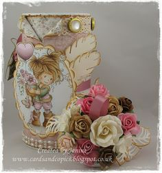 Altered Tin, beautiful using the Hobby House Topper and gorgeous embellishments