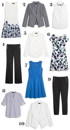 10 Summer Styles = a Month of Work Outfit Ideas
