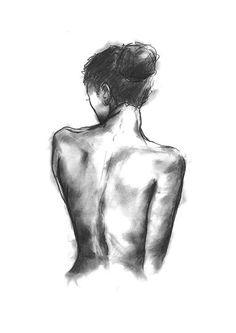 Weibliche Form. Digitaldruck aus Original hand gezeichnete illustration