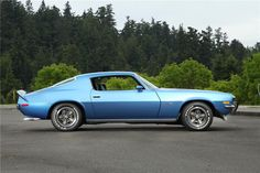 1973 CHEVROLET CAMARO Z/28 2 DOOR COUPE. Love the stance on this!!