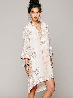 Free People Peacemaker Print Shapeless Dress , AU$118.52