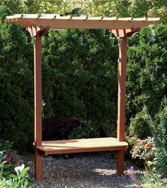 Garden Bench/Trellis Woodworking Plan from WOOD Magazine