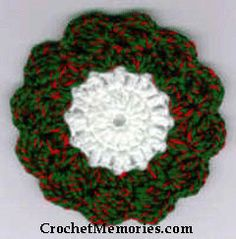 Ideas crochet christmas coasters products for 2019 Crochet Christmas Wreath, Crochet Wreath, Christmas Crochet Patterns, Holiday Crochet, Crochet Gifts, Crochet Flowers, Christmas Wreaths, Crotchet Patterns, Crochet Ornaments