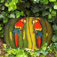 SALE Tropical Jungle Parrot by JJsBottega on Etsy