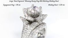 The Original Large Blooming Beauty Flower Ring Collection from the master jewelers at BloomingBeautyRing.com  #EngagementRings