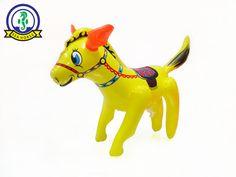 INFLATABLE TOY ANIMAL HORSE SADDLE