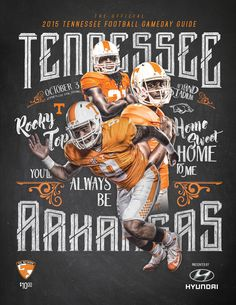 Tennessee Football Season Ticket / Program Design on Behance