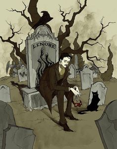 """""""To Edgar Allan Poe, who died on this day in 1849."""" by Abigail Larson"""