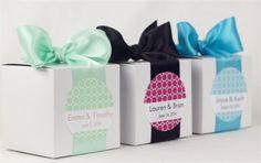 12 Custom Wedding Favor Boxes  Personalized by modernzebradesign