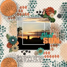 Layout of the Day, Oct 5, 2015; Digital Scrapbooking Standout @ gottapixel.net created with At Sunset by Word Art Word