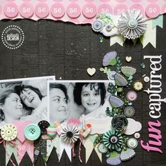#papercraft #scrapbook #layout  Using Vintage Vogue Collection by Pink Paislee