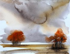 A Couple Sheltering Under a Tree Irish Landscape, Contemporary Landscape, Watercolor Landscape Paintings, Watercolour Painting, Bird Artists, Irish Art, Selling Art, Paintings For Sale, House Painting