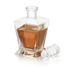 Handblown Whiskey Decanter at Things Remembered