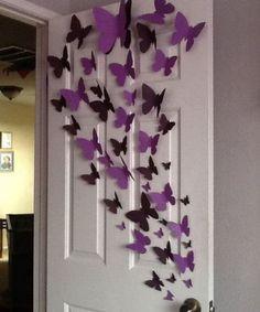 Diy Wand, Paper Butterflies, Paper Flowers, Paper Butterfly Crafts, Paper Flower Garlands, Butterfly Tree, Origami Flowers, Diy Paper, Paper Crafting
