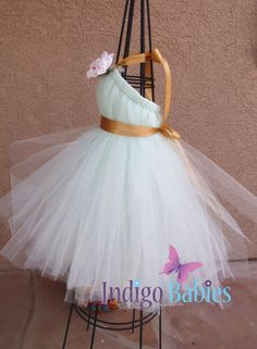 Tutu Dresses Flower Girl Tutu Dress Tutu Dress by indigobabies, $75.00