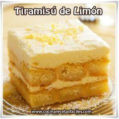 Postres y helados, receta de tiramisú de limón, postres ricos | https://lomejordelaweb.e