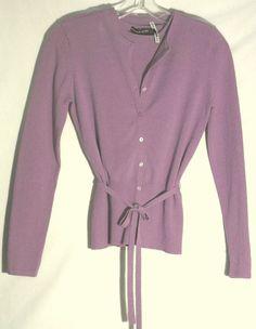 ISABELLA DeMARCO Purple Twinset - Top-Cardigan-Belt - Extra Small #IsabellaDeMarco #Twinset #XS #extrasmall