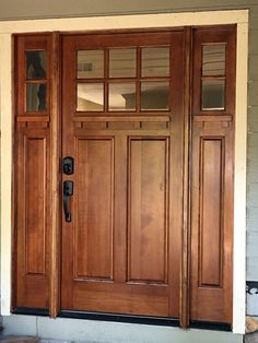 Superbe Entry Door With Sidelights AFTER Replacement
