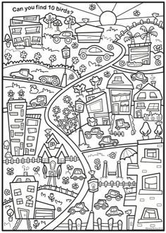 Look Find & Colour Social Studies Worksheets, Worksheets For Kids, Primary Teaching, Teaching Art, Teaching Spanish, Science Activities, Activities For Kids, Hidden Picture Puzzles, German Language Learning