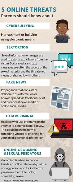 Some threats to know about and talk with your children about, when it comes to social media. Not everything they see or hear will be safe or truthful. health activities health care health ideas health tips healthy meals Social Media Safety, Internet Safety For Kids, Kids Safety, Cyber Safety, Kids Health, Children Health, Health Tips, Health Care, Cyber Threat