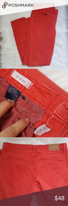 PLUS Madewell skinny skinny jeans size 32 Madewell skinny skinny jeans Faded burnt orange/red size 32x32 Excellent condition Madewell Jeans Skinny