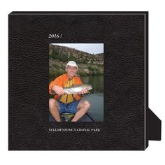 Printed Leather Personalized Frame, - Photo insert, 11.5 x 11.5 Personalized Frame, Black
