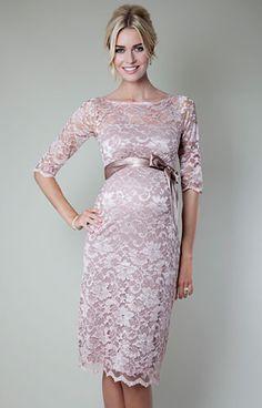Amelia Lace Maternity Dress Short (Vintage Rose) by Tiffany Rose