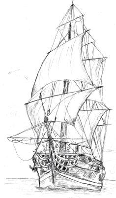 Veliero per pirografia - Veliero per pirografia - Pirate Ship Drawing, Boat Drawing, Shipwreck Tattoo, Pirate Ship Tattoos, Ship Sketch, Pirate Boats, Old Sailing Ships, Ship Paintings, Ink Pen Drawings