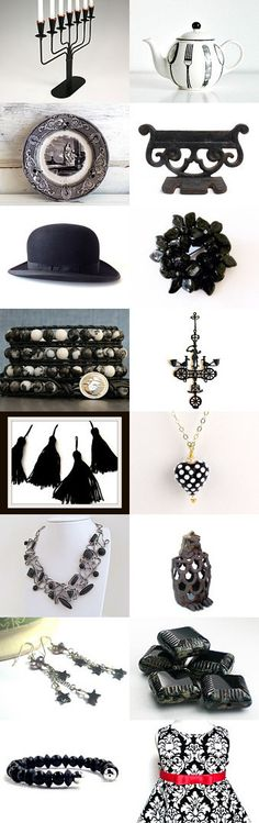 Black Meets White... by Linda on Etsy--Pinned+with+TreasuryPin.com