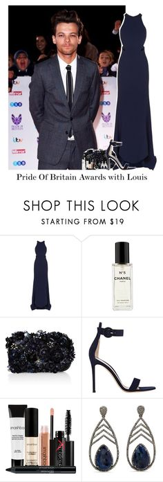 """Pride Of Britain Awards with Louis"" by reasongirl ❤ liked on Polyvore featuring STELLA McCARTNEY, Chanel, Accessorize, Gianvito Rossi, Smashbox, Bavna and Topshop"