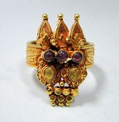 Tribal vintage 22 ct solid gold tribal ring set by TRIBALEXPORT, $850.00