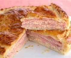 Receta de pastel de jamón y pollo