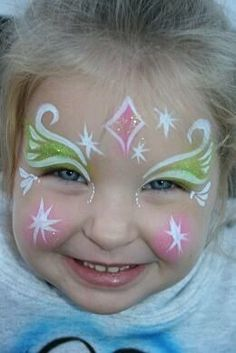 When you think about face painting designs, you probably think about simple kids face painting designs. Many people do not realize that face painting designs go beyond the basic and simple shapes that we see on small children. Princess Face Painting, Girl Face Painting, Face Painting Designs, Painting For Kids, Paint Designs, Body Painting, Simple Face Painting, Disney Face Painting, Face Paintings