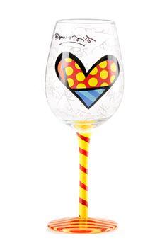 YELLOW STEM wine glass $30