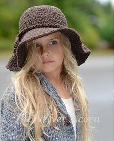 CROCHET PATTERN-The Wanderlust Brim Hat Toddler by Thevelvetacorn