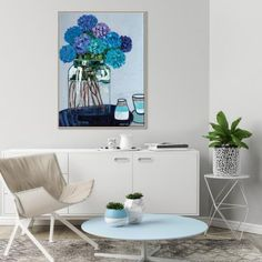 Anna Blatman is a Melbourne born professional Artist since Her unique style and love of colour and flowers are hung on walls around the world. Botanical Wall Art, Floral Wall Art, Acrylic Painting Canvas, Canvas Art Prints, Oversized Canvas Art, Large Artwork, Your Paintings, Abstract Paintings, Vintage Floral