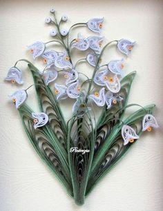 Resultado de imagen de quilling lily of the valley