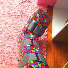 Duct tape cast--if I ever need my boot again!