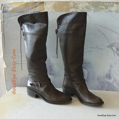 Vintage Laced Back Riding Boots size 6 Leather  Eur 36 by GoodEye