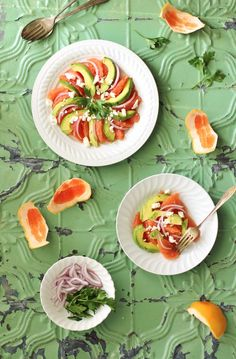 A perfect Grapefruit Avocado Salad