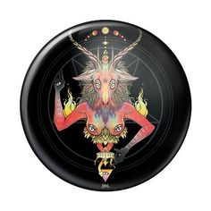 Baphomet, 2.25 Inch Pin Button #darkart #buttons #goth #pinbuttons #Baphomet #satan #gothic Pin Button, Button Badge, Stuck On You, Baphomet, Larger, Backpack, Weather, Buttons, Steel