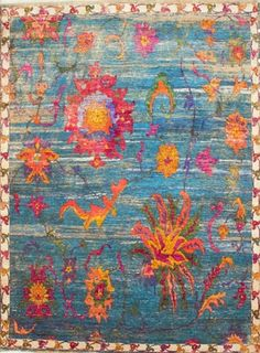 Nile Handspun Sari Silk Carpet Ethically Handmade In India Www Maisonmalabar
