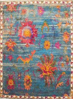 Nile Handspun Sari Silk Carpet Ethically Handmade In India Www Maisonmalabar