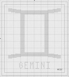 Free Printable Gemini Zodiac Cross Stitch Chart