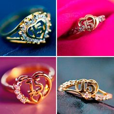 Cute Jewelry, Jewlery, Silver Jewelry, Women Jewelry, 15 Rings, Funny Video Memes, 15th Birthday, Quinceanera Dresses, Dance Videos