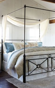 Like a rich, dark line drawing on crisp parchment, artists of the Mediterranean inspired the clean, simple strokes of our sturdy and stylish Catalina Iron Bed.