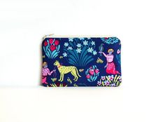 Small Zipper Pouch Coin Purse Women and Teens by PinkLadyDesigns