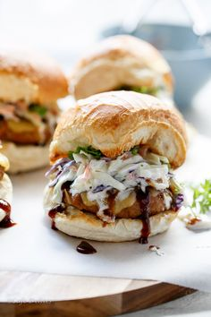Try making these Bbq Turkey and Greek Yogurt 'Slaw Cheeseburgers on Martin's Potato Rolls!