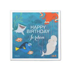"""Finding Dory"" Personalized Birthday Napkins"